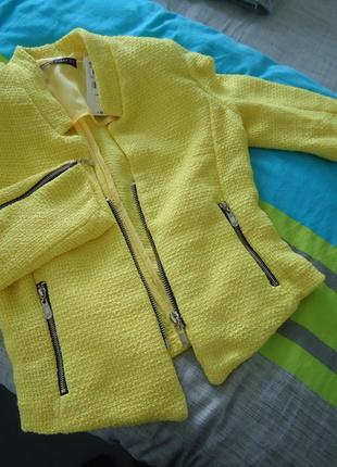 Veste blazer jaune fluo