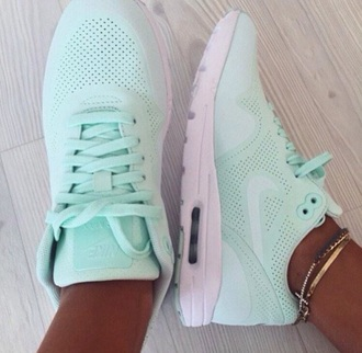 shoes nike blue trainers sneakers sports airmax