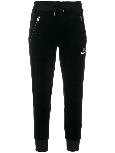 Nike pants track pants embroidered women spandex black