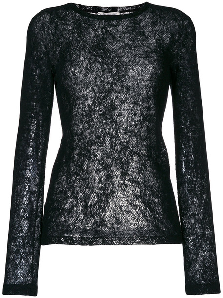 Stefano Mortari top knitted top women black wool