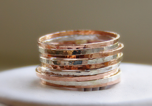 Handmade stackable mothers rings & stack bangles by Nadine *Stacking rings * Stackable rings * Stack rings