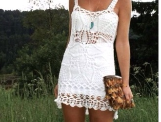 dress white knit dress
