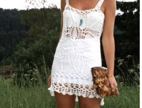dress knit dress white