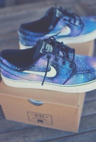 shoes blue shoes janoski nike