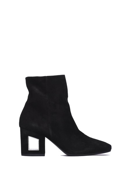 heel boot leather black black leather shoes