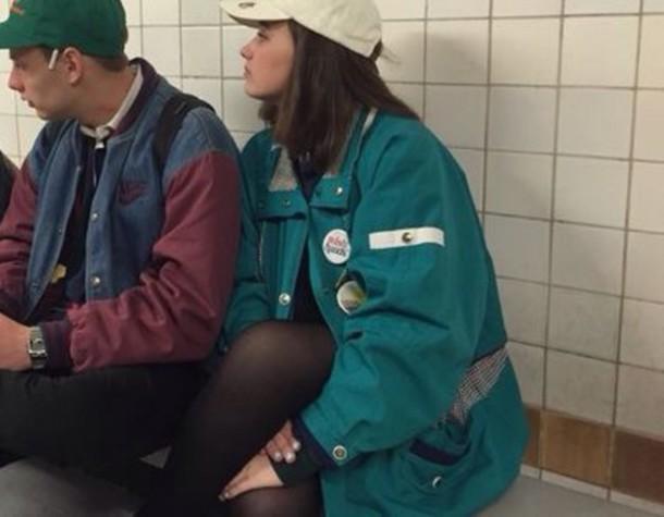 coat trench coat fisherman coat thrift store coat green parker mac cosmetics tumblr coat