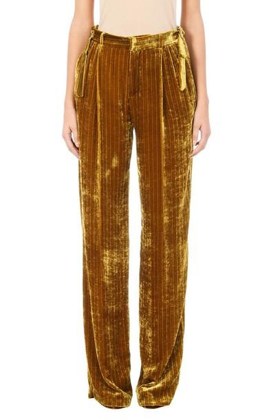 Attico velvet yellow pants