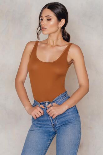 bodysuit babe copper underwear