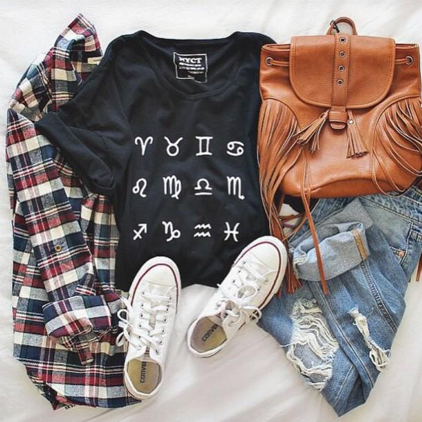 t-shirt nyct clothing zodiac zodiac signs top graphic tee horoscope horoscope tee