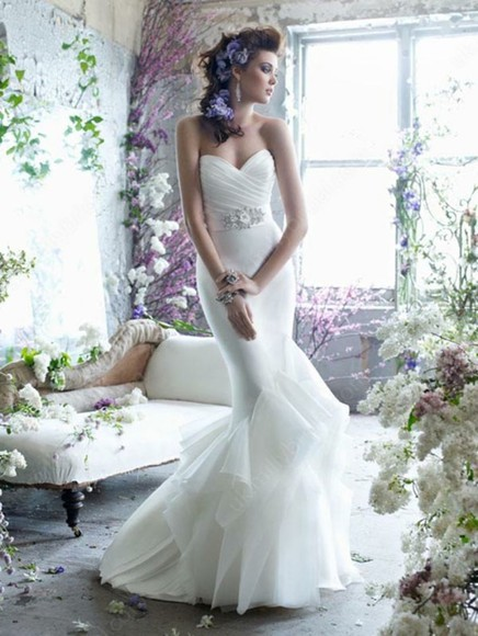 dress ruffles mermaid mermaid wedding dresses