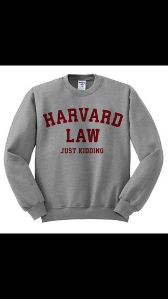 sweater funny crewneck top grey sweater varsity