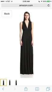 dress,rachel pally,fit,black dress,v-back homecoming dresses,maxi dress