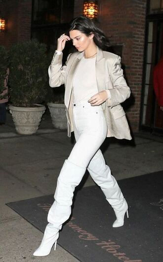 pants top boots kendall jenner kardashians