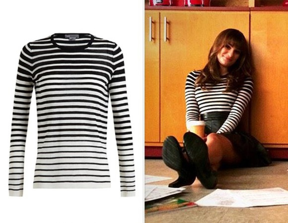 glee lea michele top sweater