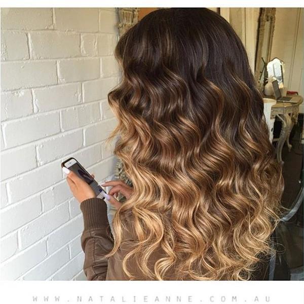 Dress Ombre Hair Curly Hair Blonde Hair Hairstyles