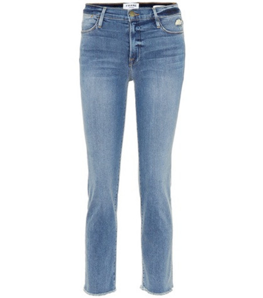 Frame Le High Straight jeans in blue