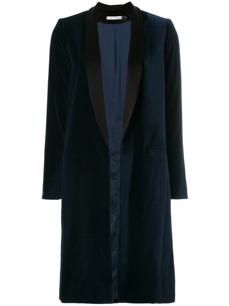 coat women spandex blue