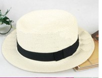 Wholesale elegant riband embellished hat white