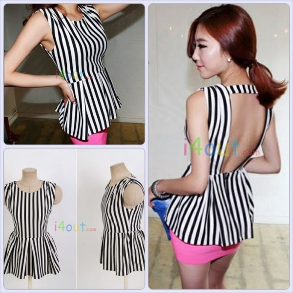dress i4out look lookbook clothes clothes striped dress shirt open back dresses swag fashion