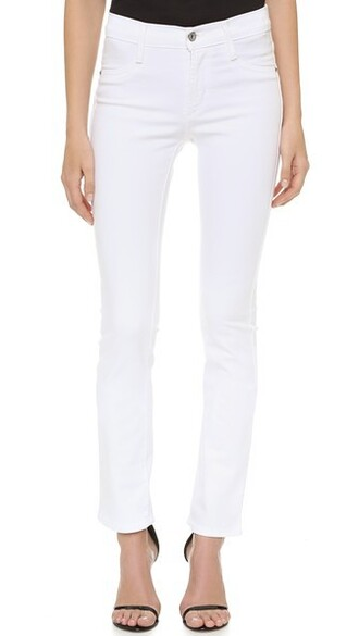 jeans high white