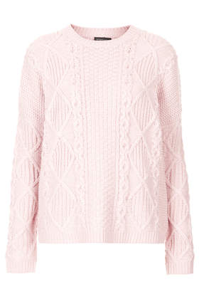 Knitted Chunky Cable Jumper - New In This Week - New In - Topshop