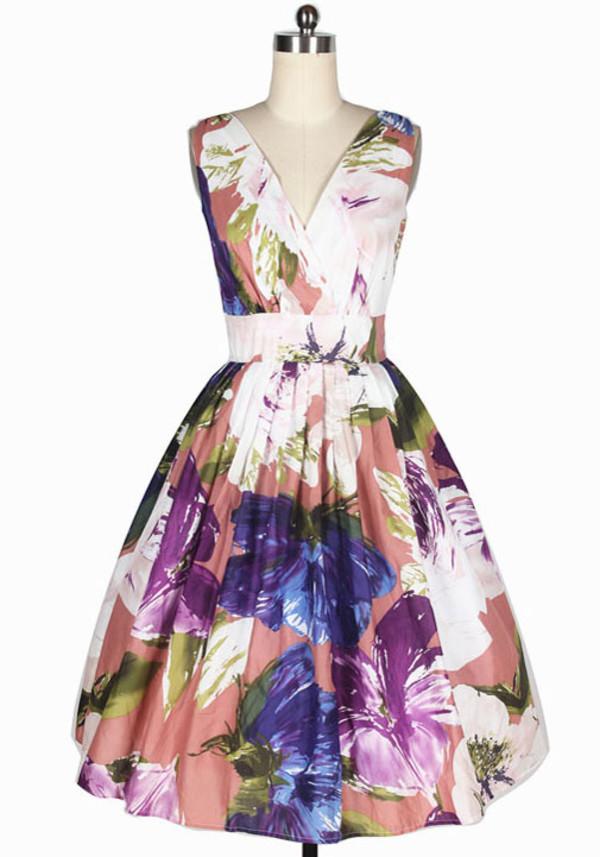 50s style vintage dress prom dress floral dress vintage 50s style evening dress evening dress