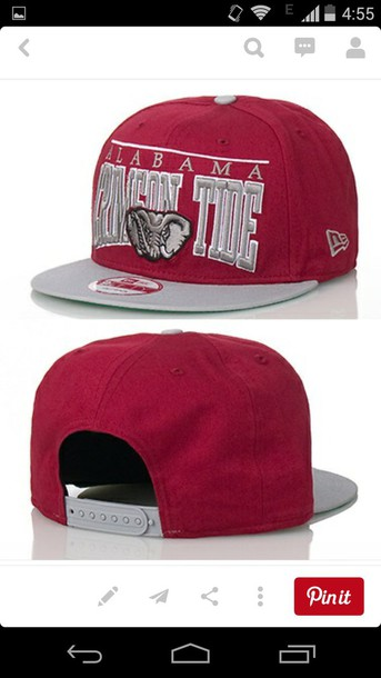 hat dark red crimson tide snapback mens cap mens accessories burgundy mens cap