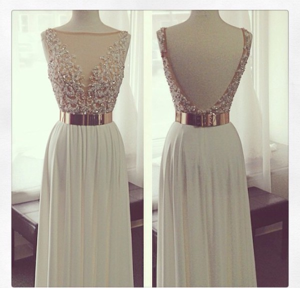 dress prom dress gems on dress prom dress gold dress white dress evening dress lace prom dresses prom gowns evening dress white lace prom dress party dress white party dresses glitter dress lace dress gold belt long dress