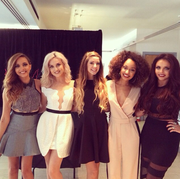 pants little mix jumpsuit leigh-anne pinnock zoella nude pink black dress