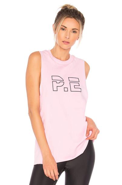 P.E Nation racerback pink top