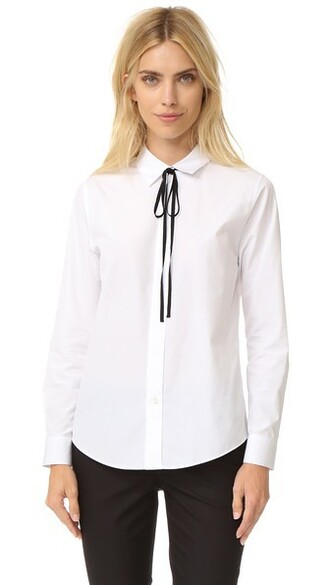 shirt white black top