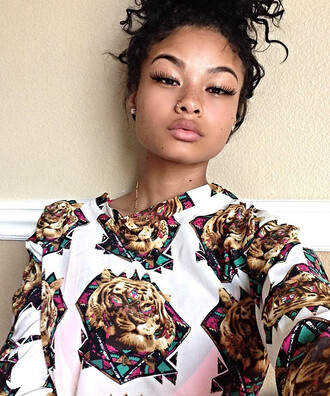 tiger print floral dope wishlist india westbrooks lion shirt
