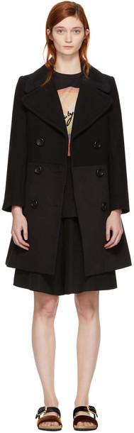 See by Chloe coat black wool