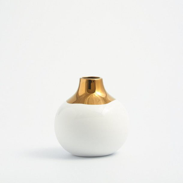 Home Accessory Home Decor Gold White Vases Bedroom Beach House