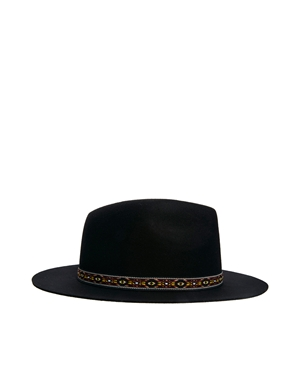 ASOS | ASOS Geo-Tribal Band Felt Fedora Hat at ASOS