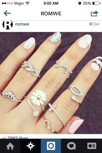 jewels jewelry rings jewlery flowers gold silver ring