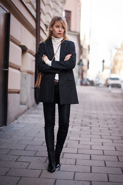 chaloth blogger winter jacket leather pants