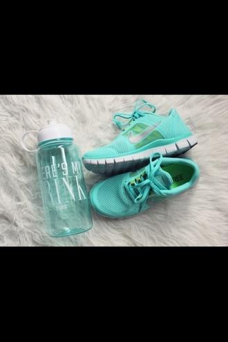 jewels blue white sportswear fitspo fitness fit turquoise water bottle