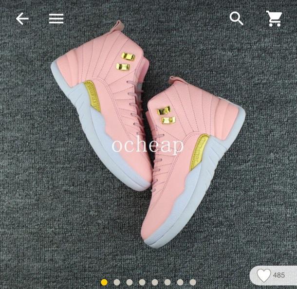 shoes jordan retros jordan 12 runner pink jordans gold 71cab5615