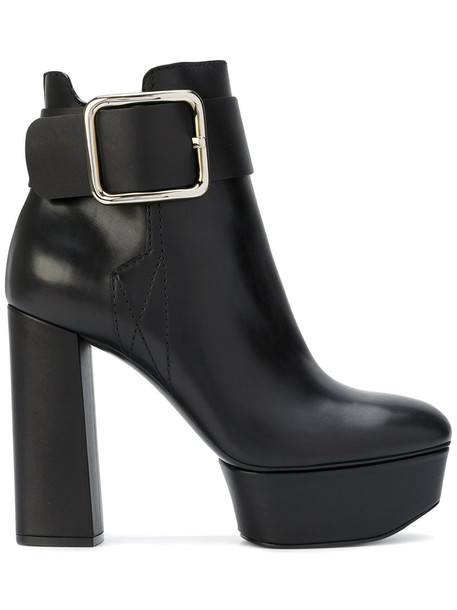 CASADEI women ankle boots leather black shoes