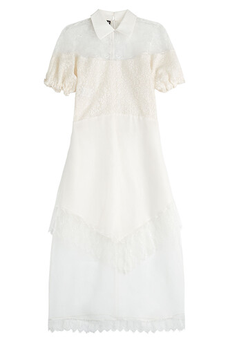dress embroidered dress embroidered lace white
