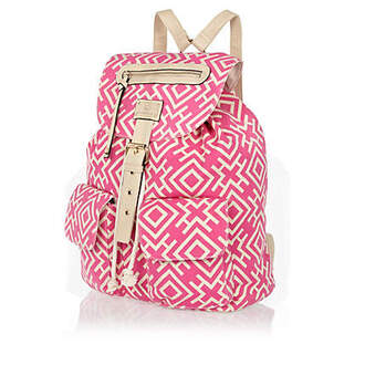 bag pink backpack aztec tribal pattern beige soft light girly pattern beautifuls back to school school bag