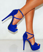 shoes,royal blue high he sandle,blue high heels,high heels,open toes,hot pink,hot pick high heels,cross strapped high heels