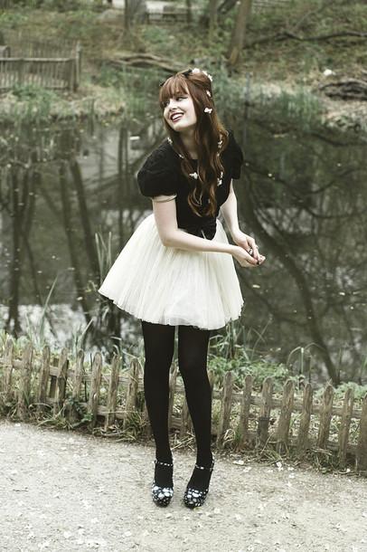 louise pandora vintage tutu white skirt miss pandora louise ebel