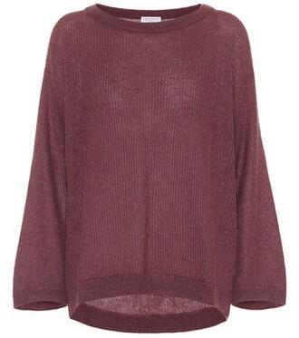 sweater metallic mohair purple