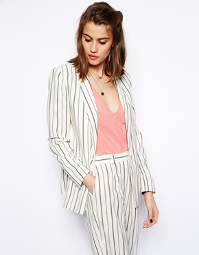 ASOS | ASOS Blazer in Stripe at ASOS