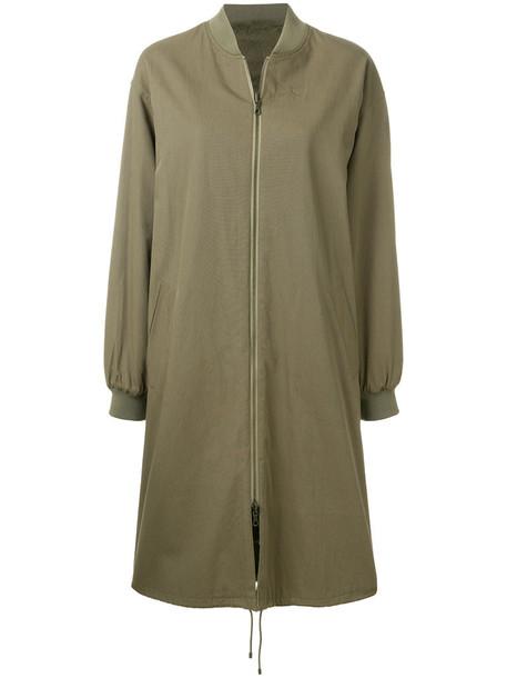 Army Yves Salomon coat oversized coat oversized fur women cotton green