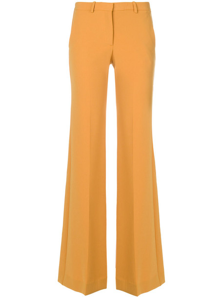 theory women spandex yellow orange pants