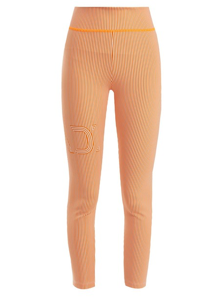 Fendi leggings print orange pants