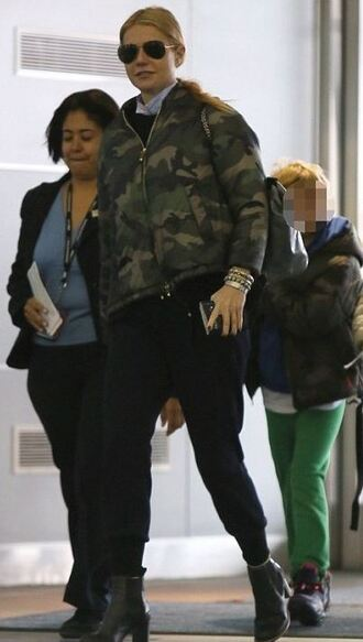 camouflage gwyneth paltrow bomber jacket
